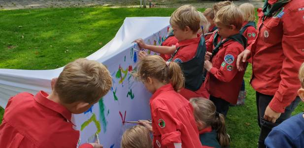 Bevermuseum Schilderen Keet Kleur Hjbllanos Scouting Almelo
