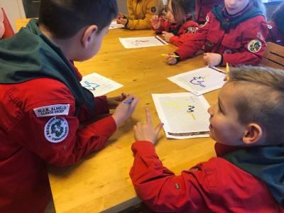 Bevers-scouting-almelo-windrichtingen-hokjes-tekening
