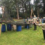 De Scouts strijden met pijl en boog