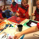 Schillderen in een echt bevermuseum voor de Keet Kleur badge